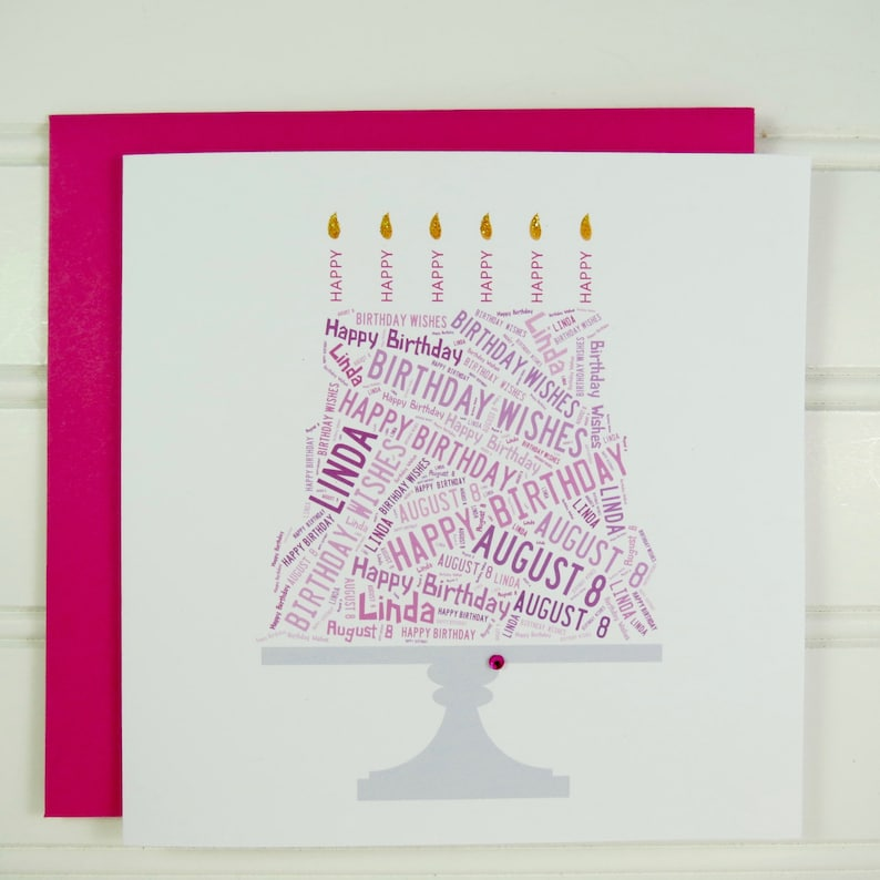 Custom Birthday Card Personalized
