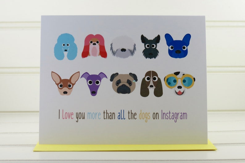 Dogs Card Funny Dog Card I Love You Card Just Because Card image 0