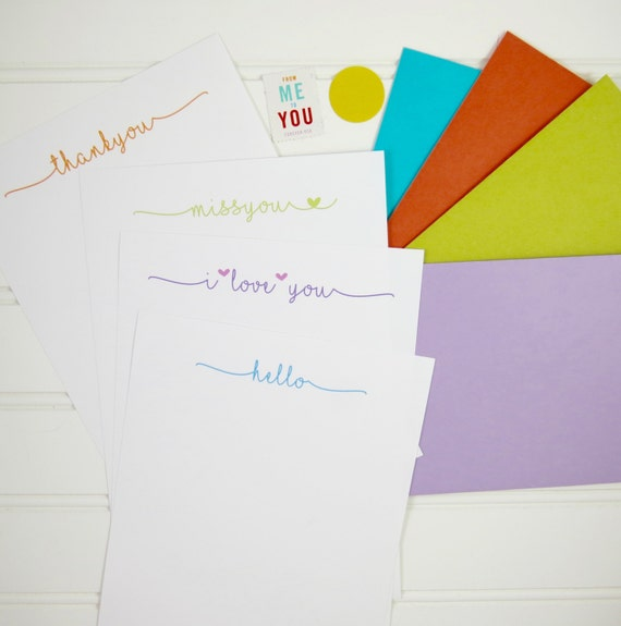 Letter writing paper personalized stationery all occasion etsy image 0 expocarfo Image collections