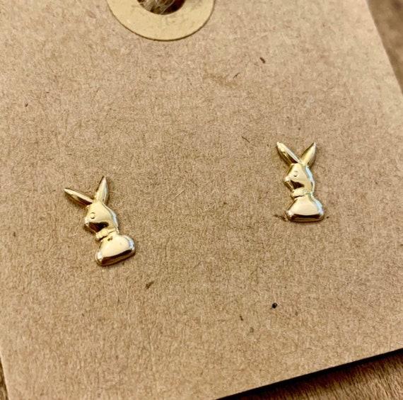 Vintage 14K Playboy Bunny Earrings