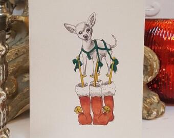 Chihuahua Holiday Card