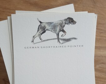 German Shorthaired Pointer Dog Note Card Set