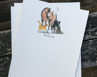 RESCUE Note Card Set