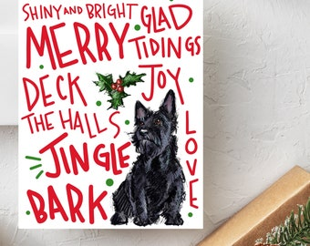 Boxed set Scottish Terrier II Holiday Card | Scottie Dog Christmas Cards | Scottish Terrier Holiday Cards | Dog Christmas Cards | Scottie