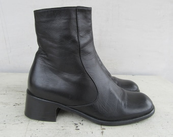 7aef3c6e36d Boots with heel   Etsy
