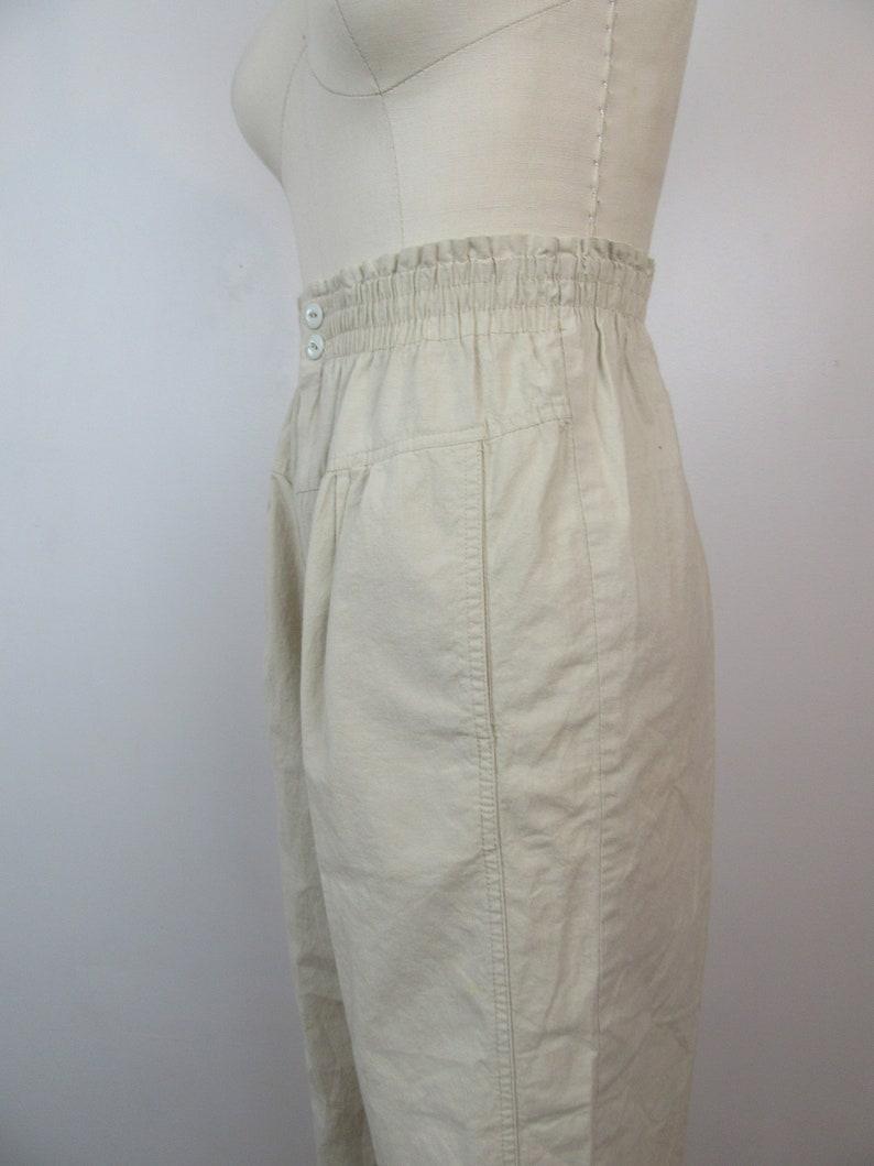23 to 29 W 1980s High Waist Pleated Khakis 1990s Pleated Slacks High Rise Cotton Trousers Slacks 80s Mom Pants Trousers Utility Pants