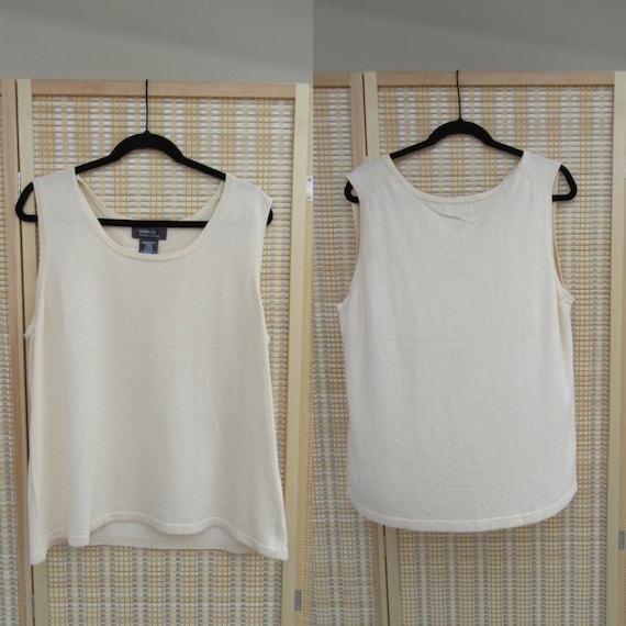 Simple Sateen Blouse Top Shirt 90s Shell Tank Top