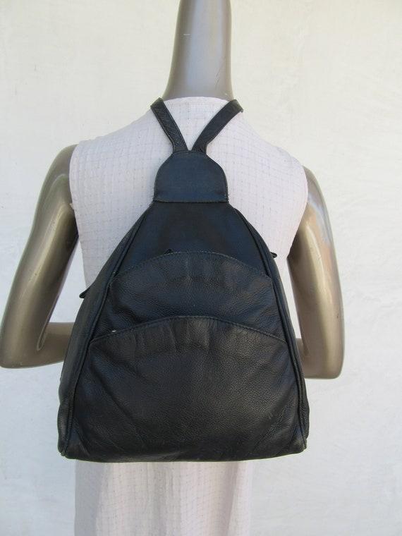 7d756e3e2483 Black Leather Backpack Black Leather Bag Purse Tote Handbag