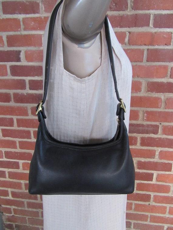 Vintage 1990s 90s Coach Legacy Hobo Satchel Black Leather Bag  13c9429cd17f7