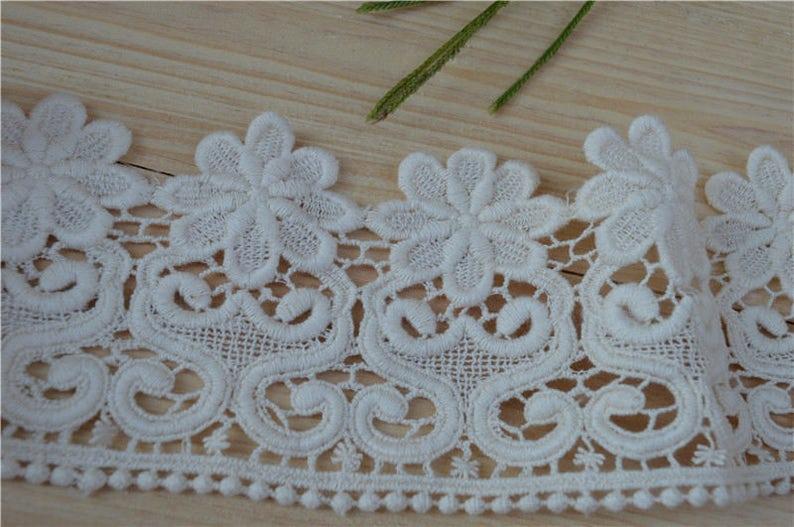 9cm 5yardslot off white Cotton Lace Hometexile Cloth DIY Patchwork Crafts Lace Trims scrapbooking