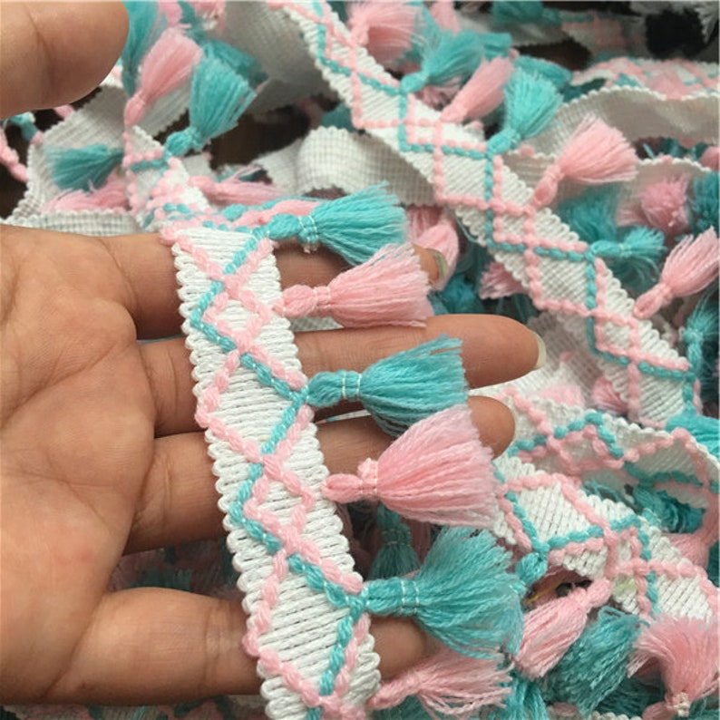 new arrivals two style mixed color Tassels lace trim stageevening dress accessories material 5cm 10yardslot