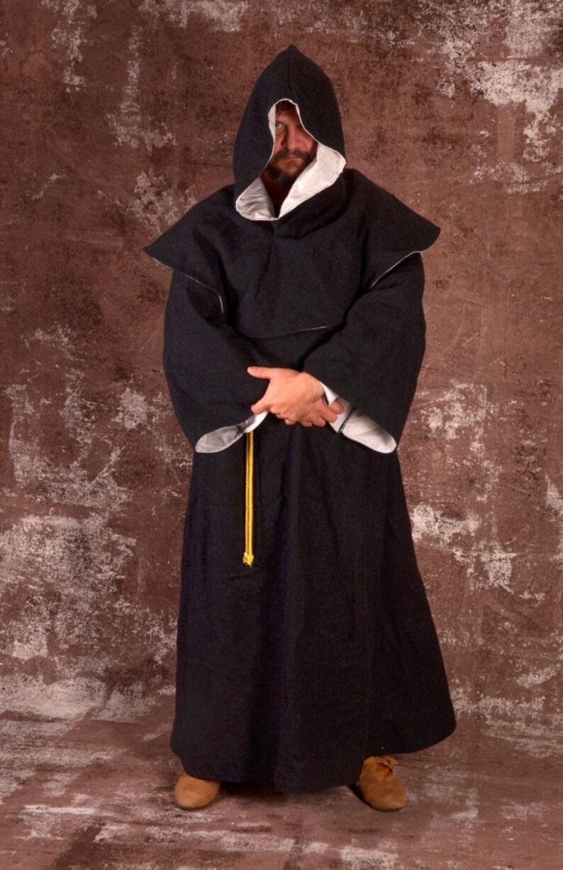 ce98edd153 Linen Monk s Robe   Hood Men s Medieval Costume Garb