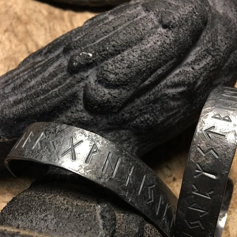 Forged Rune Bangle