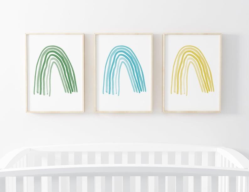 Rainbow Printable Wall Art  Set of Prints for Nursery or image 0