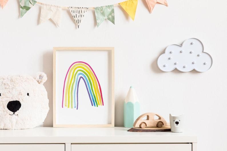 Rainbow Print  Rainbow Art For Nursery or Kid's Room  image 0