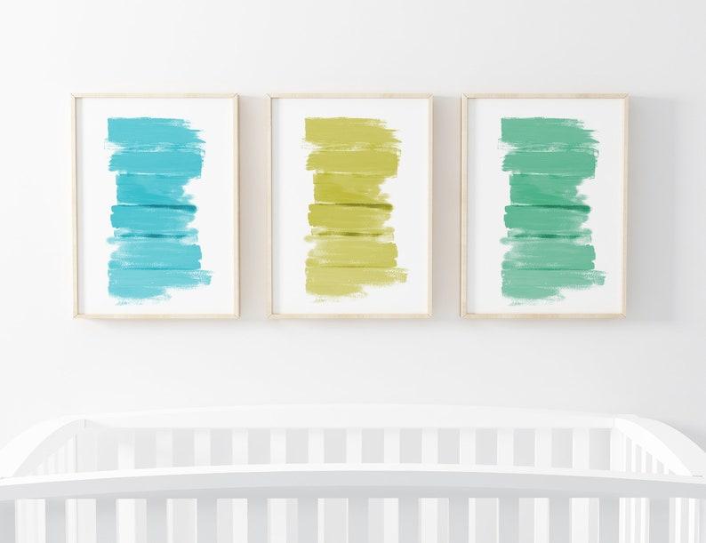 Printable Wall Art Set  Abstract Painting   Prints For image 0