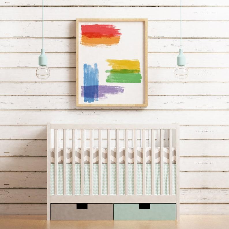 Rainbow Wall Art   Abstract Painting  Printable Wall Art For image 0