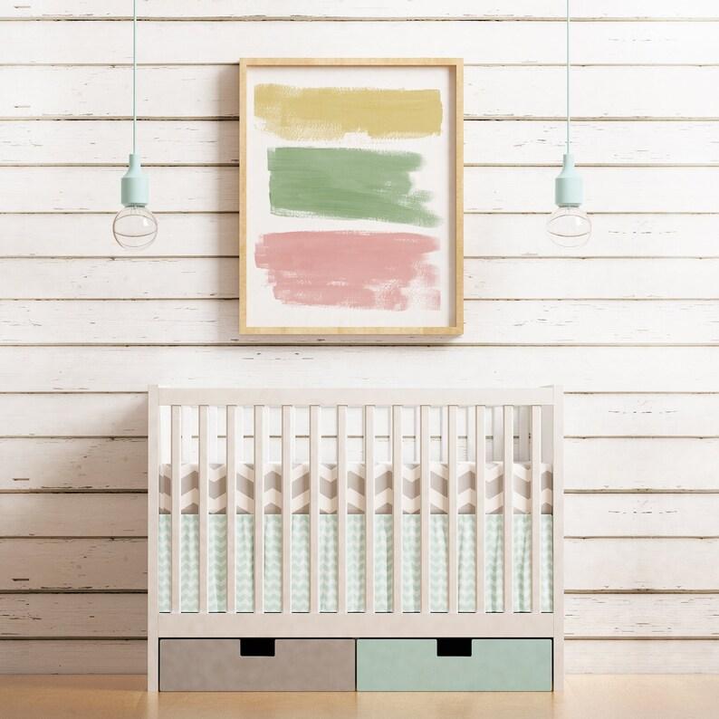 Abstract Painting  Nursery Wall Art Printable  Minimalist image 0