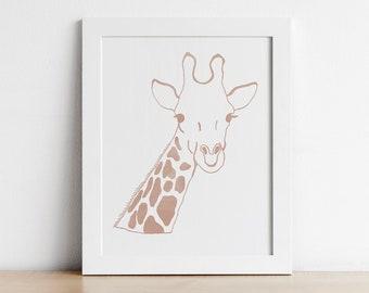 Giraffe Nursery Wall Art - Safari Nursery Decor - Printable Wall Art - Zoo Animal Nursery Decor - Digital Download