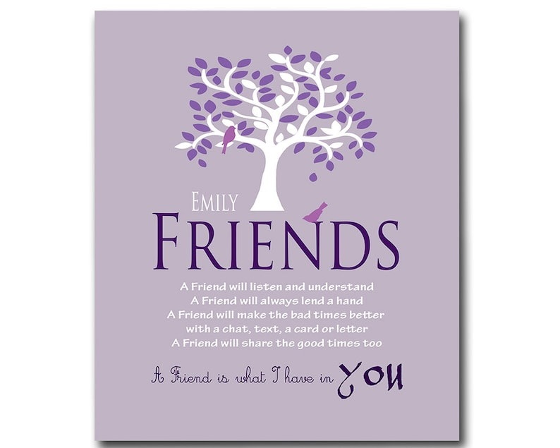 Gift For Friends Friendship Bridesmaid Birthday