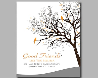Best Friend Gift - Birthday Gift - Moving Away Gift - Thank You For Being a Friend - Any Colors Available