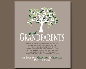 Grandparent Gift - Personalized Gift from Grandchildren - Add Any Wording of Your Choice - Available in Any Color