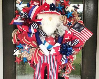 Deluxe Uncle Sam wreath