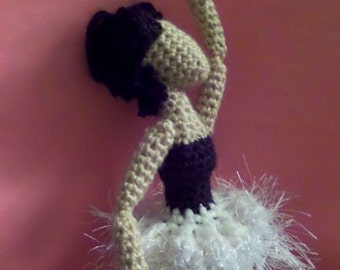 Crochet Amigurumi Ballerina Doll PDF Downloadable Pattern With Pictures
