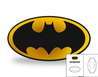 Template for Batman Animated Series Chest Emblem