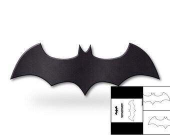 template for arkham batman batarang etsy