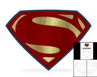 Template For Dawn Of Justice Superman Chest Emblem