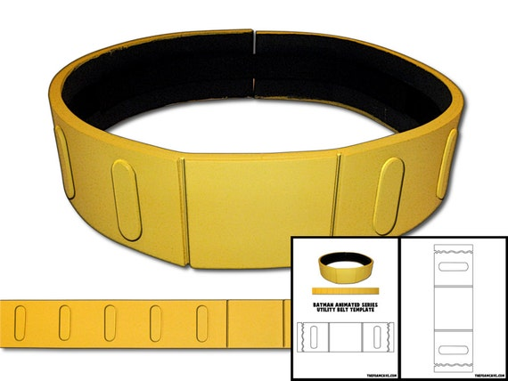 template for batman animated series utility belt etsy