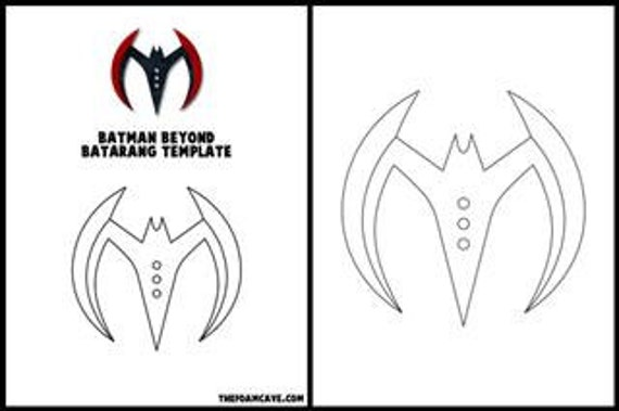 template for batman beyond batarang etsy