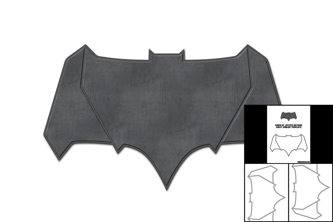 Template For Dawn Of Justice Batman Chest Emblem Etsy