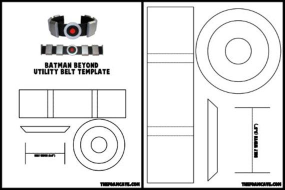 template for batman beyond utility belt etsy