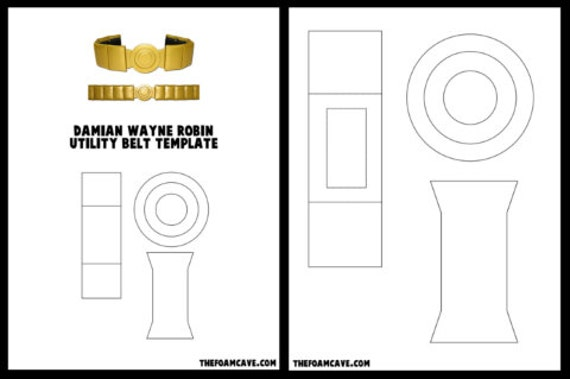 template for damian wayne robin utility belt etsy