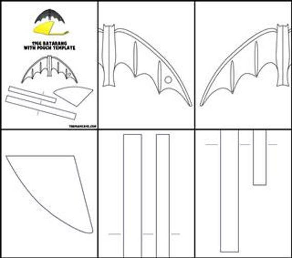template for 1966 batarang and pouch etsy