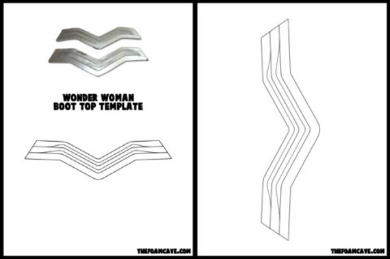 template for wonder woman boot tops etsy