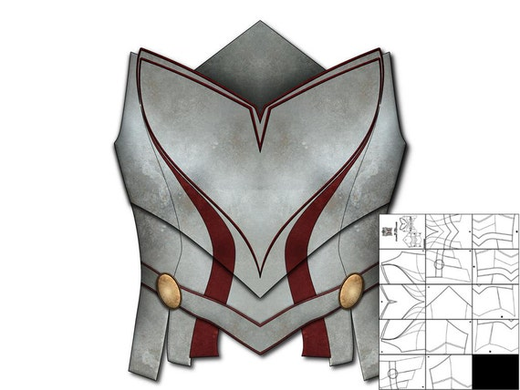 Template For Lady Sif Breastplate Etsy