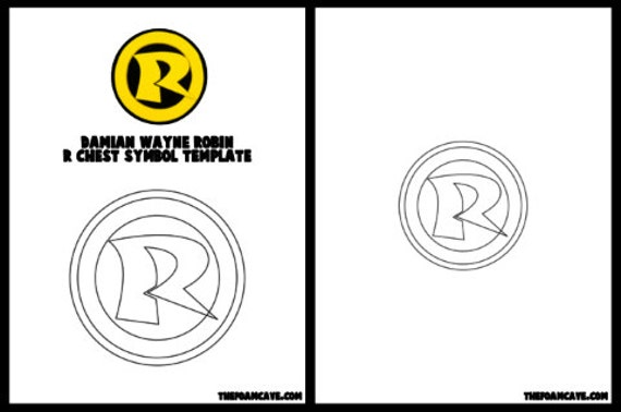 Template For Damian Wayne Robin R Chest Symbol