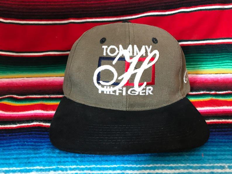 527f529c7 VTG Tommy Hilfiger Beige Bootleg strapback hat | Etsy