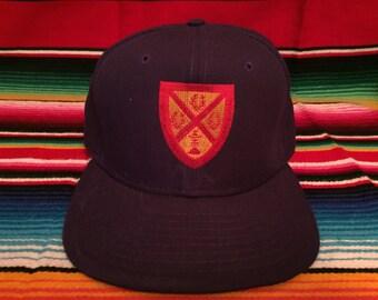 VTG Father Ryan School Nashville, TN Purple Crested embroidered New Era Snapback hat