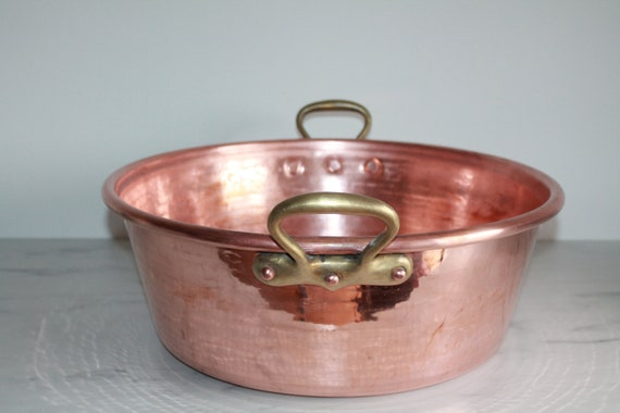 Giant dehillerin copper 18th C mixing bowl copper pot large French copper pan