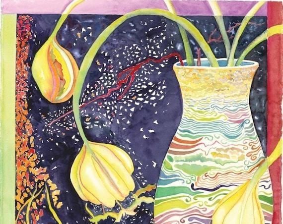 Winter's Garden - Giclee Print by Helen Yamada
