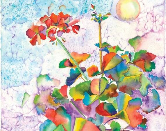 Geranium Pearls -  Giclee print by Helen Yamada