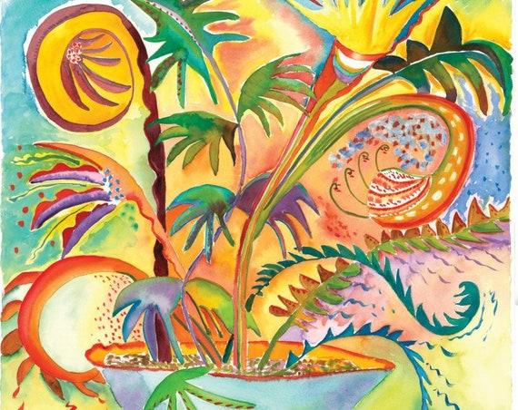 Flowering Jazz  - Giclee Print by Helen Yamada