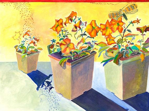 Feeling Light -  Giclee Print by Helen Yamada