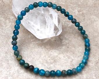 Apatite bracelet Beaded bracelet Pearl bracelet Christmas gift Gift for her Blue green bracelet Delicate bracelet Free shipping