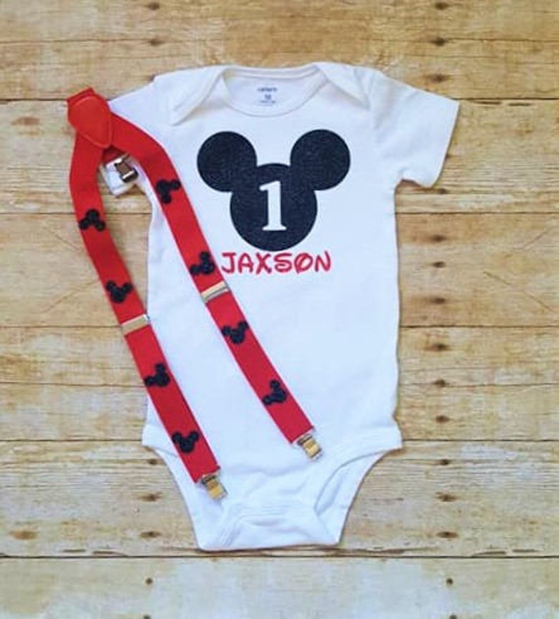 eec66745f 1st Birthday Boys Mickey mouse outfit/1st Birthday | Etsy
