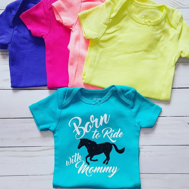 Born to Ride with Mommy baby shirtbaby horse shirtshorse bodysuitsme and mommy shirtsbaby cowgirl clothesEquestrian baby shirtshorse